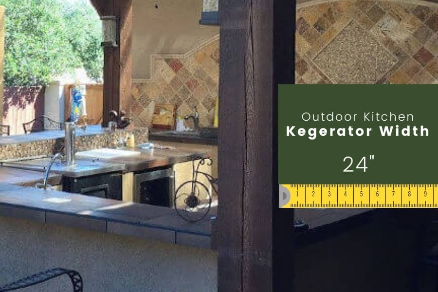Outdoor Kitchen Dimensions: Kegerator Width