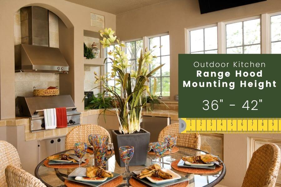 Outdoor Kitchen Dimensions: Range Hood Mounting Height