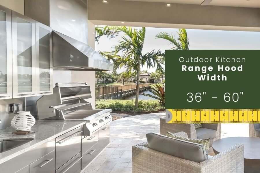 Outdoor Kitchen Dimensions: Range Hood Width