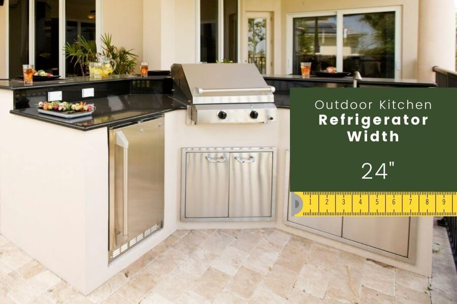 Outdoor Kitchen Dimensions: Refrigerator width