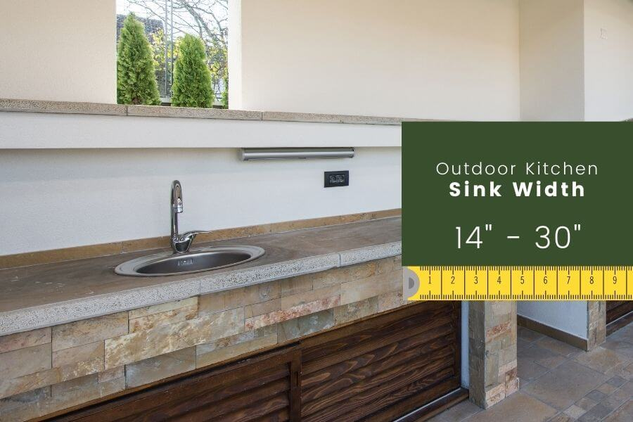 Outdoor Kitchen Dimension: Sink Width