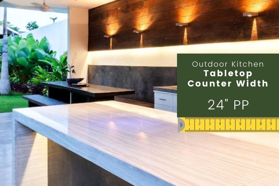 Outdoor kitchen dimensions: Tabletop Counter Width
