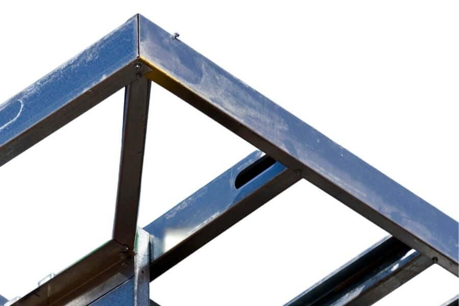 metal outdoor kitchen frame