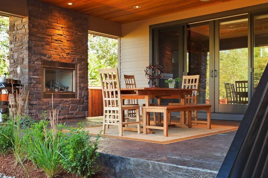Outdoor fireplace ideas for contemporary patio