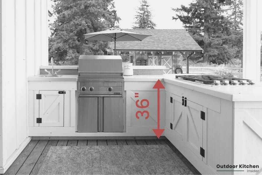 outdoor kitchen counter height