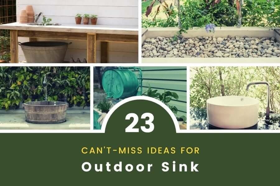 outdoor sink ideas