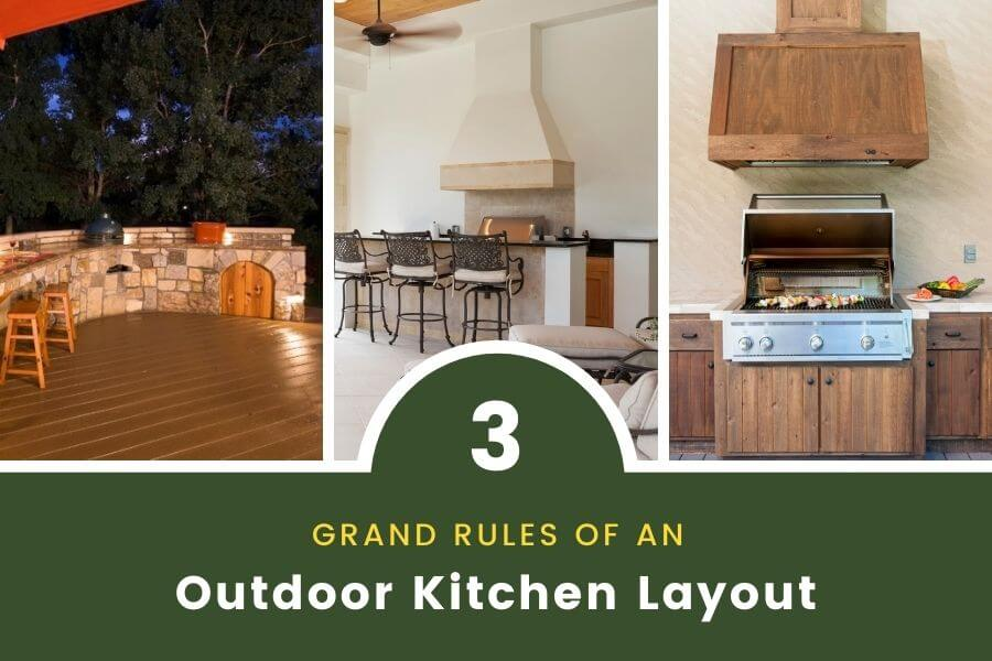 outdoor kitchen layout rules