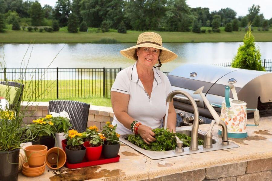 outdoor sink ideas outdoor kitchen and potting bench