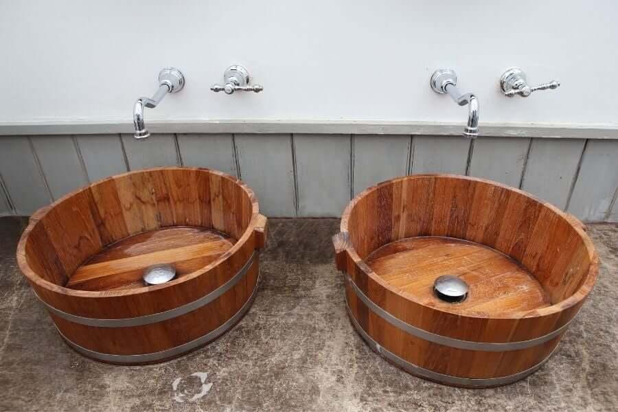 patio sink ideas wood