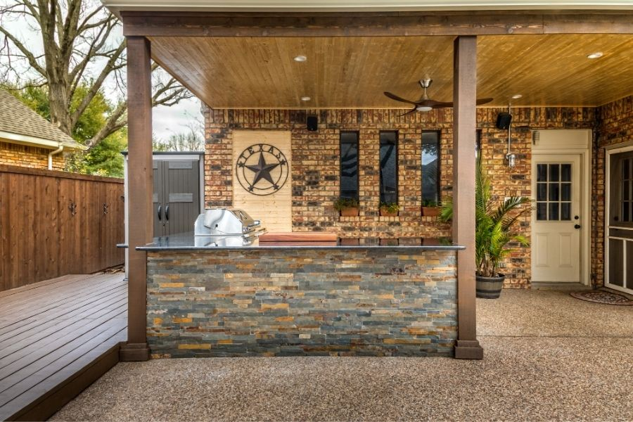 texan small outdoor kitchen