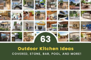 63 Superb Outdoor Kitchen Ideas (Covered, Stone, Bar, Pool)