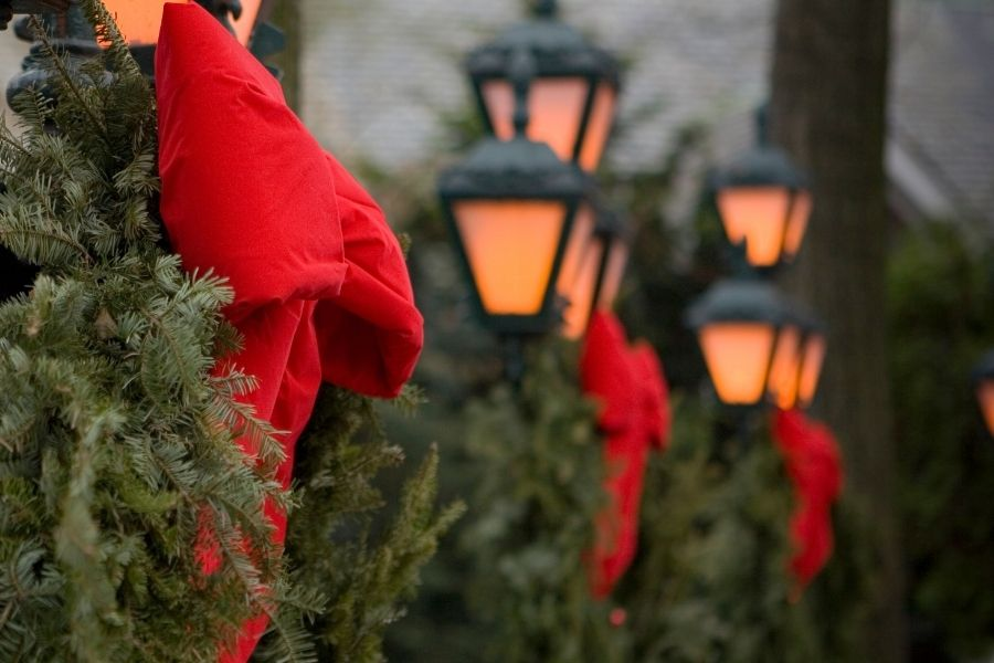 Christmas Outdoor Lamp Post