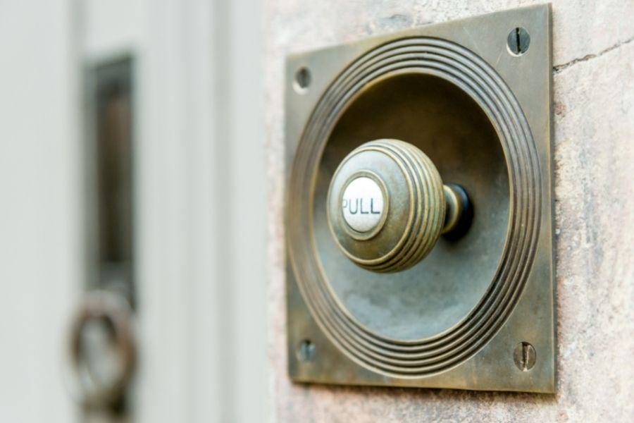 front door ideas pull bell