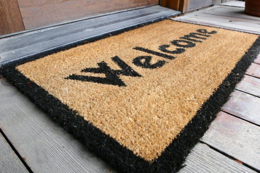 front door ideas decor outdoor rug mat