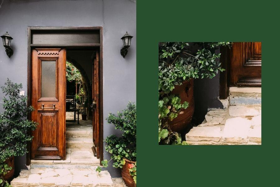 front door ideas entryway from planters