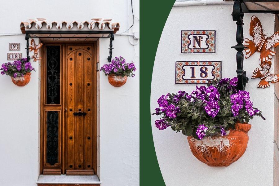 front door decor ideas wall planters