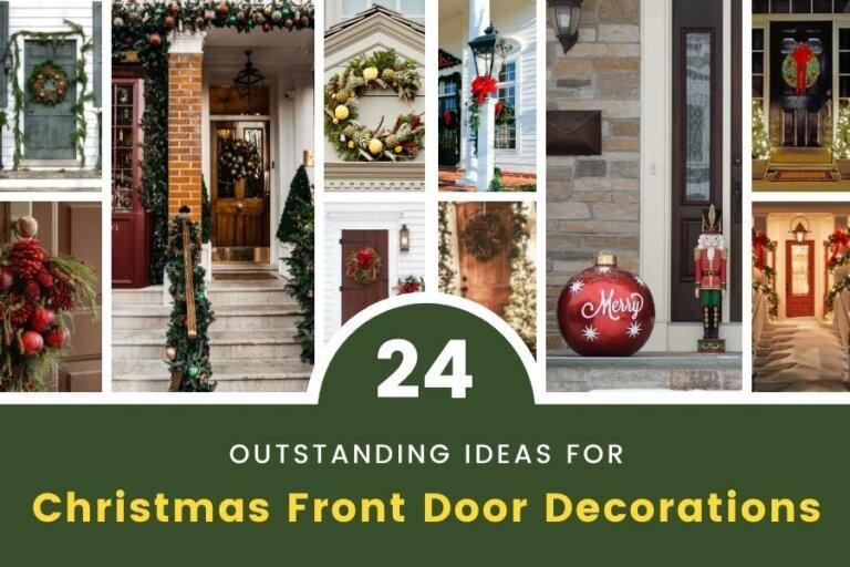 24 Outstanding Ideas for Christmas Front Door Decorations